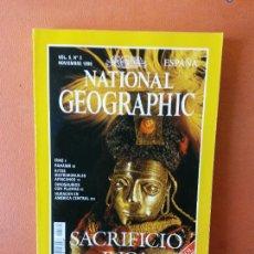 Collezionismo di National Geographic: NATIONAL GEOGRAPHIC ESPAÑA. SACRIFICIO INCA. NOVIEMBRE 1999.. Lote 220310055