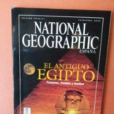 Collectionnisme de National Geographic: NATIONAL GEOGRAPHIC ESPAÑA. EL ANTIGUO EGIPTO FARAONES, TEMPLOS Y TUMBAS. PRIMAVERA 2001.. Lote 220315901