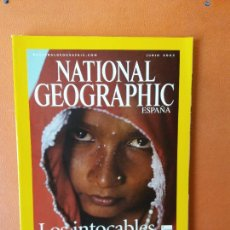 Collectionnisme de National Geographic: NATIONAL GEOGRAPHIC ESPAÑA. LOS INTOCABLES DE LA INDIA. JUNIO 2003.. Lote 220349662