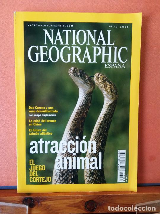 NATIONAL GEOGRAPHIC ESPAÑA. ATRACCIÓN ANIMAL. JULIO 2003. (Coleccionismo - Revistas y Periódicos Modernos (a partir de 1.940) - Revista National Geographic)
