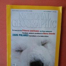 Coleccionismo de National Geographic: NATIONAL GEOGRAPHIC ESPAÑA. OSOS POLARES. APRENDIZAJE EN LOS HIELOS ÁRTICOS. DICIEMBRE 2000.. Lote 220350042