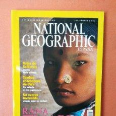 Coleccionismo de National Geographic: NATIONAL GEOGRAPHIC ESPAÑA. RANA THARU. ENCANTO DE MUJER. SEPTIEMBRE 2000.. Lote 220350320