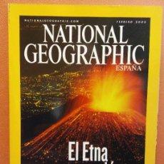 Coleccionismo de National Geographic: NATIONAL GEOGRAPHIC. FEBRERO 2002. EL ETNA EN ERUPCIÓN. Lote 220353962