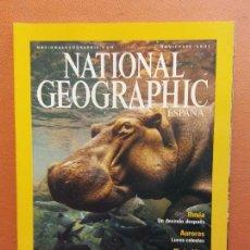 Coleccionismo de National Geographic: NATIONAL GEOGRAPHIC. NOVIEMBRE 2001. HIPOPOTAMOS. FUENTES DE VIDA. Lote 220354937