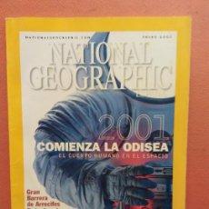 Coleccionismo de National Geographic: NATIONAL GEOGRAPHIC. ENERO 2001. COMIENZA LA ODISEA. EL CUERPO HUMANO EN EL ESPACIO. Lote 220355098