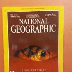 Coleccionismo de National Geographic: NATIONAL GEOGRAPHIC. FEBRERO 1999. BIODIVERSIDAD. LA FRÁGIL RED. Lote 220355838