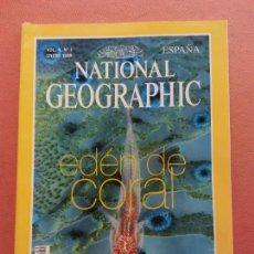 Coleccionismo de National Geographic: NATIONAL GEOGRAPHIC. ENERO 1999. EDEN DE CORAL. Lote 220355985