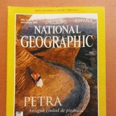 Coleccionismo de National Geographic: NATIONAL GEOGRAPHIC. DICIEMBRE 1998. PETRA. ANTIGUA CIUDAD DE PIEDRA. Lote 220356052