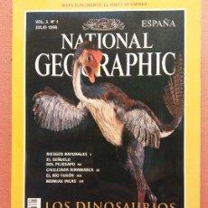 Coleccionismo de National Geographic: NATIONAL GEOGRAPHIC. JULIO 1998. LOS DINOSAURIOS ALZAN EL VUELO. Lote 220356436
