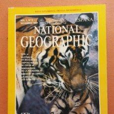 Coleccionismo de National Geographic: NATIONAL GEOGRAPHIC. DICIEMBRE 1997. TIGRES. Lote 220356591