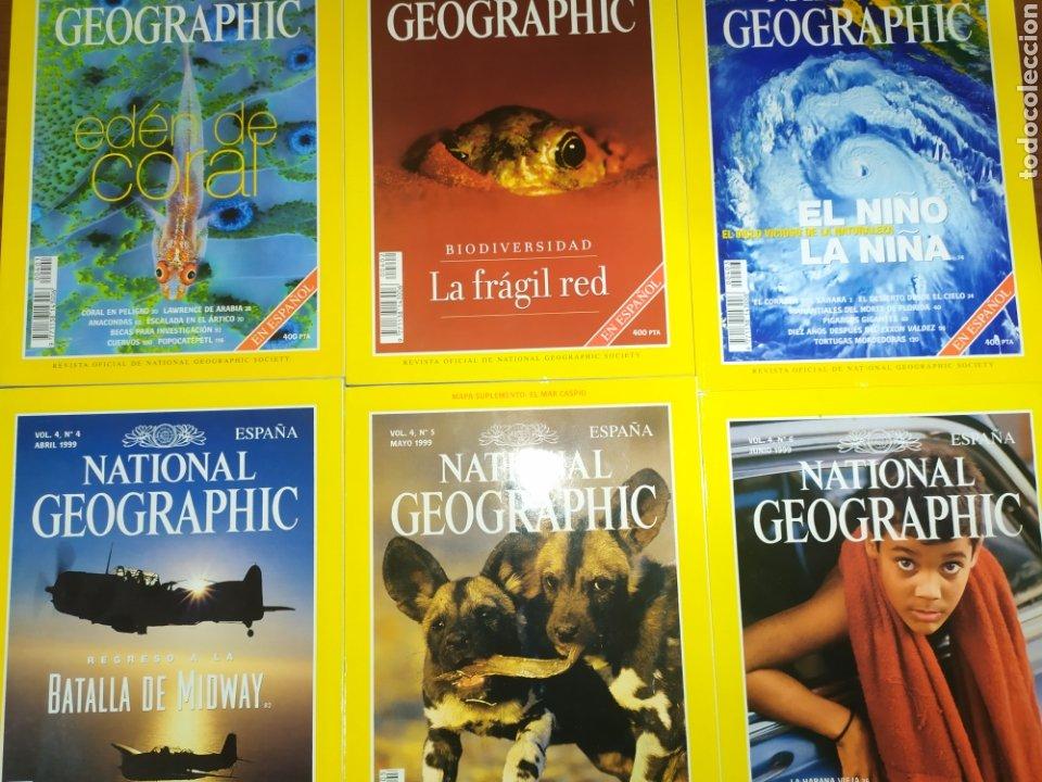 LOTE SEIS NATIONAL GEOGRAPHIC. VOL 4, 1999 (Coleccionismo - Revistas y Periódicos Modernos (a partir de 1.940) - Revista National Geographic)