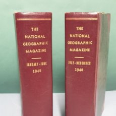 Coleccionismo de National Geographic: THE NATIONAL GEOGRAPHIC MAGAZINE AÑO 1948 COMPLETO 12 REVISTAS CON 2 MAPAS. Lote 222984913