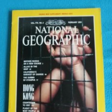 Coleccionismo de National Geographic: NATIONAL GEOGRAPHIC-FEBRUARY 1991, VOL. 179, Nº 2. HONG KONG COUNTDOWN TO 1997. Lote 224830215
