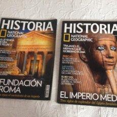 Coleccionismo de National Geographic: LOTE 2 REVISTAS NATIONAL GEOGRAPHIC HISTORIA, AÑO 2010. Nº: 81 Y 91. Lote 225040970