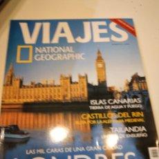 Collectionnisme de National Geographic: TRAST REVISTA VIAJES NATIONAL GEOGRAPHIC Nº 45 LONDRES ISLAS CANARIAS CASTILLOS RIN TAILANDIA. Lote 228500155