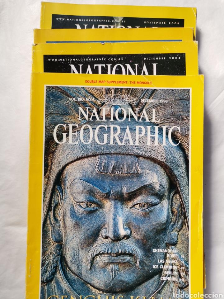 LOTE 4 REVISTAS NATIONAL GEOGRAPHIC (Coleccionismo - Revistas y Periódicos Modernos (a partir de 1.940) - Revista National Geographic)