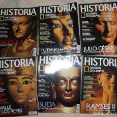 Collectionnisme de National Geographic: REVISTA HISTORIA NATIONAL GEOGRAPHIC - LOTE 24 PRIMEROS NÚMEROS CON SUS ARCHIVADORES - VER FOTOS. Lote 236210440