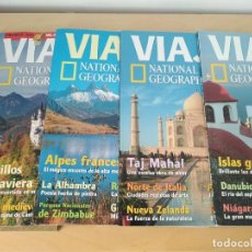 Coleccionismo de National Geographic: VIAJES. NATIONAL GEOGRAPHIC. LOTE 5 REVISTAS. NÚMEROS 20-21-22-27-28. Lote 238613025