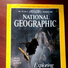 Collectionnisme de National Geographic: NATIONAL GEOGRAPHIC MAGAZINE. NOVEMBER 1988. EXPLORING THE EARTH. MAPA MONTE EVEREST. EN INGLÉS.EIP. Lote 240172855