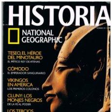 Coleccionismo de National Geographic: HISTORIA NATIONAL GEOGRAPHIC Nº 39, AKHENATON, VIKINGOS, TERCIO DE FLANDES, CLUNY, TESEO. Lote 240183180