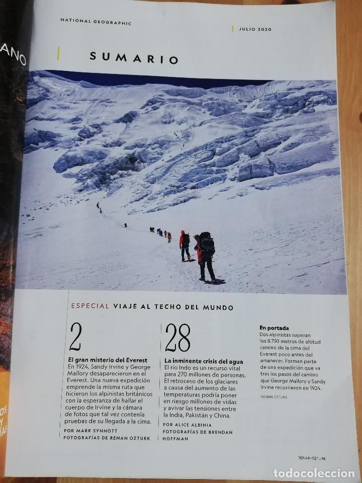 Coleccionismo de National Geographic: REVISTA NATIONAL GEOGRAPHIC JULIO 2020 (EL GRAN MISTERIO DEL EVEREST) - Foto 2 - 240748135