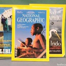 Coleccionismo de National Geographic: LOTE DE 3 REVISTAS NATIONAL GEOGRAFHIC EN ESPAÑOL AÑO 1997 Y 2000 LIBIA, INDO, ZAMBEZE. Lote 242204080