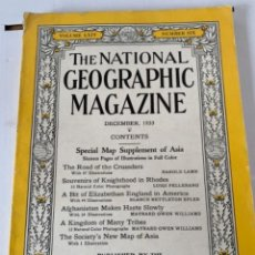 Coleccionismo de National Geographic: REVISTA THE NATIONAL GEOGRAPHIC MAGAZINE, NO 6, DICIEMBRE 1933 (BOLS 3). Lote 245606445