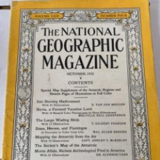 Coleccionismo de National Geographic: THE NATIONAL GEOGRAPHIC MAGAZINE, OCTUBRE, 1932 (BOLS, 1932). Lote 245607240