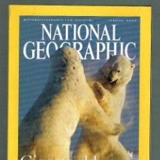 Coleccionismo de National Geographic: NATIONAL GEOGRAPHIC OSOS POLARES DINASTIA HAN VILCABAMBA INCAS MAPA CELESTE EDAD BRONCE FEBRERO 2004. Lote 246315130