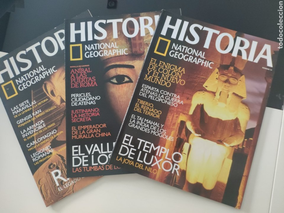 HISTORIA NATIONAL GEOGRAFIC 1, 6, 11 ANTIGUO EGIPTO (Coleccionismo - Revistas y Periódicos Modernos (a partir de 1.940) - Revista National Geographic)