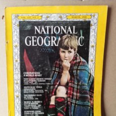 Coleccionismo de National Geographic: NATIONAL GEOGRAPHIC - VOLUME 133 - N 3 -- MARZO 1968 - EN INGLES. Lote 256012890