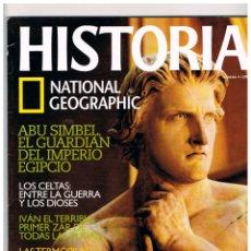 Coleccionismo de National Geographic: HISTORIA NATIONAL GEOGRAPHIC Nº 9, LA PESTE NEGRA, ESPARTACO, LOS CELTAS: ABU SIMBEL,. Lote 257282455
