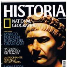 Coleccionismo de National Geographic: HISTORIA NATIONAL GEOGRAPHIC Nº 8, MARCO POLO. LOS MAYAS, TRAJANO, EGIPTO: HATSHEPSUT, JUANA LA LOCA. Lote 257282670