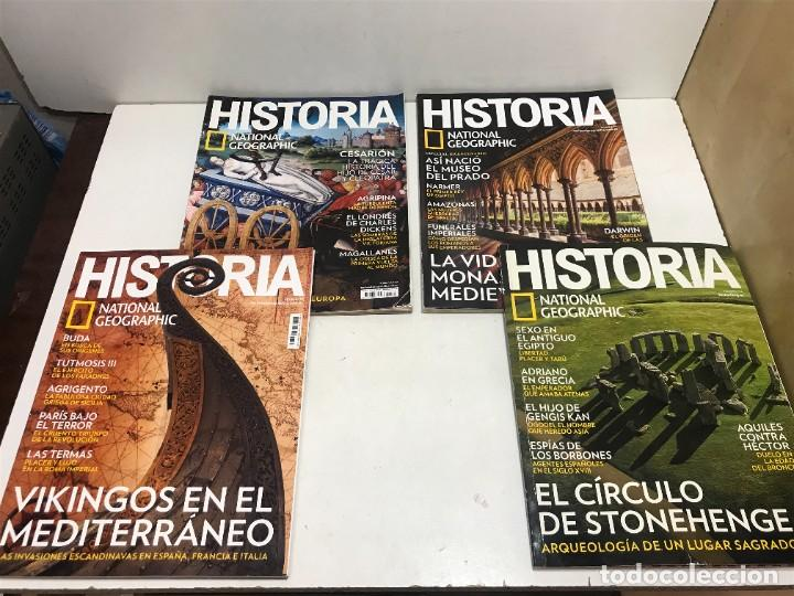 LOTE 4 REVISTAS HISTORIA Nº 189 - 191 - 192 - 194 AÑO 2019/2020 NATIONAL GEOGRAPHIC (Coleccionismo - Revistas y Periódicos Modernos (a partir de 1.940) - Revista National Geographic)