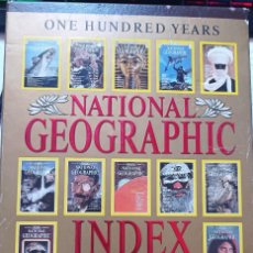 Coleccionismo de National Geographic: NATIONAL GEOGRAPHIC INDEX,ONE HUNDRED YEARS 1888-1988 + 2 MAPS. Lote 262408035