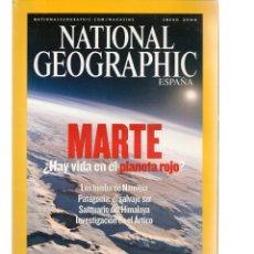 Coleccionismo de National Geographic: NATIONAL GEOGRAPHIC. MARTE: ¿HAY VIDA EN EL PLANETA ROJO?. ENERO, 2004. (ST/B16). Lote 262896620