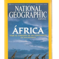 Coleccionismo de National Geographic: NATIONAL GEOGRAPHIC. ÁFRICA. VIAJE AL CORAZÓN DE UN CONINENTE. SEPTIEMBRE, 2005. (ST/B16). Lote 262905095