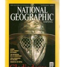 Coleccionismo de National Geographic: NATIONAL GEOGRAPHIC. GLADIADORES, ÍDOLOS DE LA ANTIGUA ROMA. NOVIEMBRE, 2005. (ST/B16). Lote 262905330