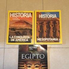 Coleccionismo de National Geographic: LOTE 3 REVISTAS NATIONAL GEOGRAPHIC HISTORIA - EDICIÓN ESPECIAL (NÚMEROS ESPECIALES. Lote 264764824