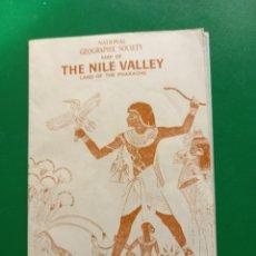 Coleccionismo de National Geographic: MAPA DE EL VALLE DEL NILO DE NATIONAL GEGRAPHIC 1965. Lote 268872059
