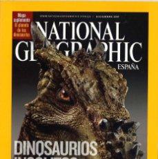 Coleccionismo de National Geographic: NATIONAL GEOGRAPHIC. DICIEMBRE 2007. DINOSAURIOS INSÓLITOS. Lote 271508168