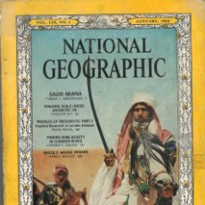 Colecionismo da National Geographic: NATIONAL GEOGRAPHIC. ENERO 1966. EN INGLÉS. SAUDI ARABIA. Lote 275202238