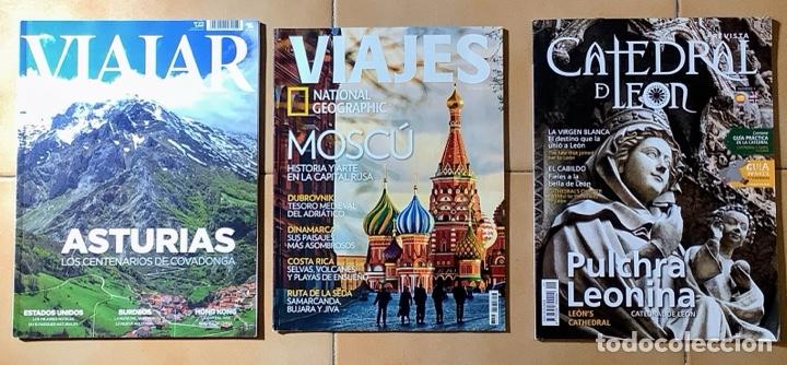 LOTE DE 3 REVISTAS DE VIAJES (Coleccionismo - Revistas y Periódicos Modernos (a partir de 1.940) - Revista National Geographic)