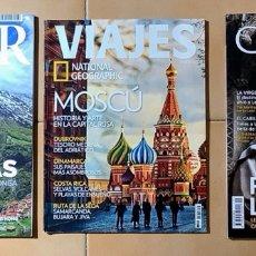 Coleccionismo de National Geographic: LOTE DE 3 REVISTAS DE VIAJES. Lote 275574348