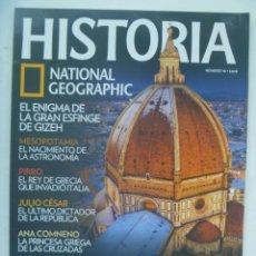 Coleccionismo de National Geographic: REVISTA HISTORIA DE NATIONAL GEOGRAPHIC, Nº 98: LEONARDO DA VINCI, LA ESFINGE, PIRRO, CESAR, ETC. Lote 276637528