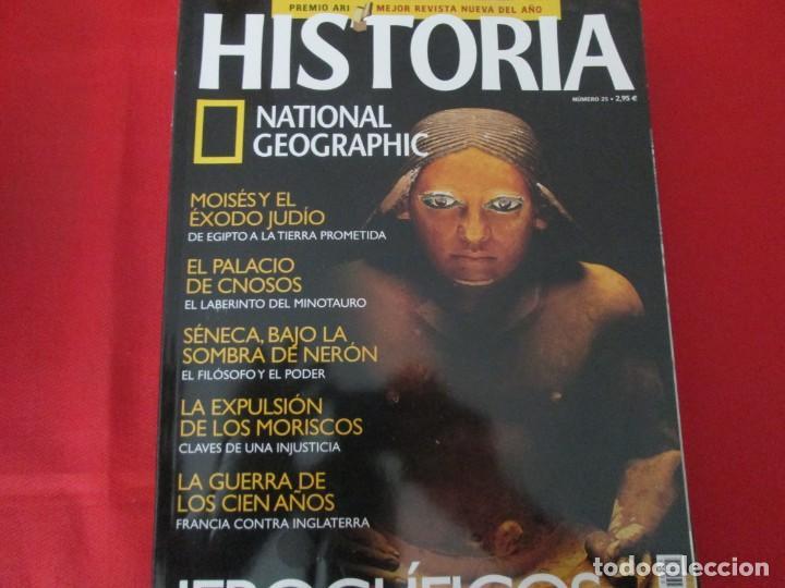 HISTORIA JEROGLIFICOS (Coleccionismo - Revistas y Periódicos Modernos (a partir de 1.940) - Revista National Geographic)