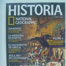 Coleccionismo de National Geographic: REVISTA HISTORIA DE NATIONAL GEOGRAPHIC, Nº 103: PESTE NEGRA, ATILA, SUMARIOS, MEDICINA EGIPTO, ETC. Lote 277085523