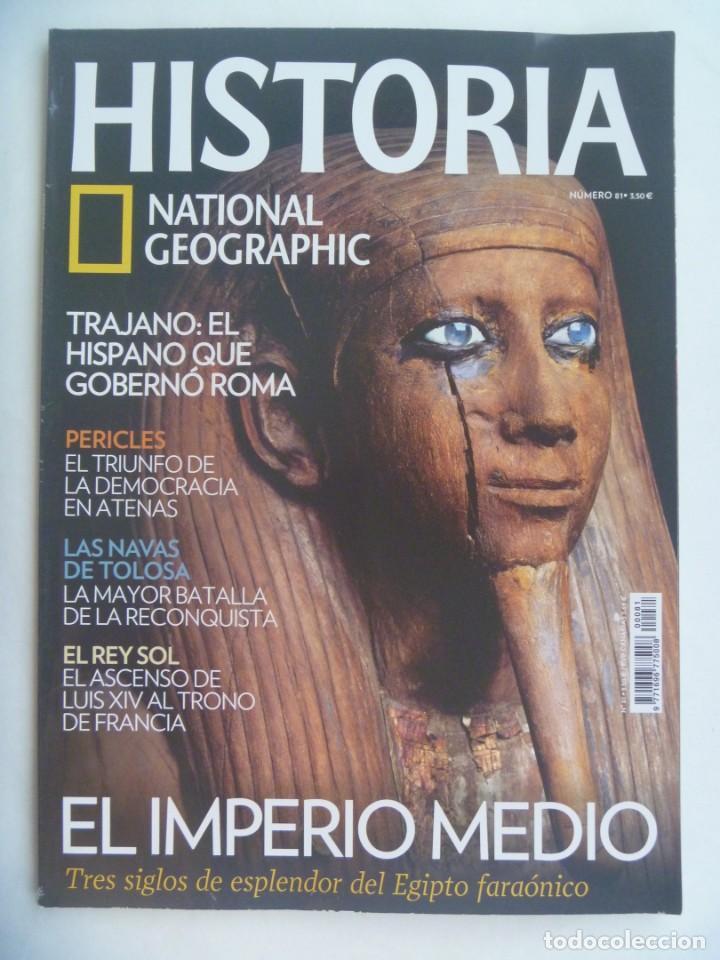 REVISTA HISTORIA DE NATIONAL GEOGRAPHIC, Nº 81: IMPERIO MEDIO EGIPTO, TRAJANO, NAVAS DE TOLOSA, ETC (Coleccionismo - Revistas y Periódicos Modernos (a partir de 1.940) - Revista National Geographic)
