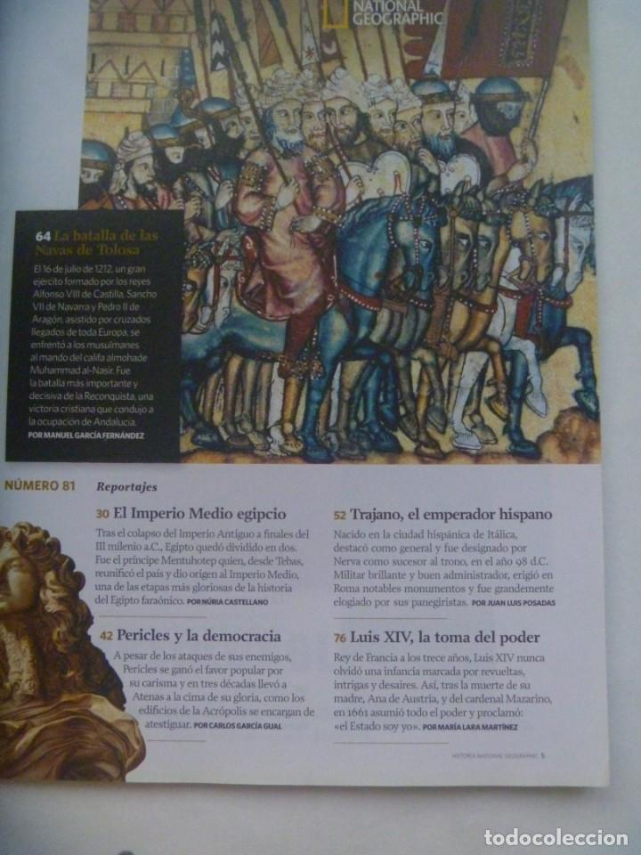 Coleccionismo de National Geographic: REVISTA HISTORIA DE NATIONAL GEOGRAPHIC, Nº 81: IMPERIO MEDIO EGIPTO, TRAJANO, NAVAS DE TOLOSA, ETC - Foto 2 - 277566028