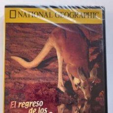 Coleccionismo de National Geographic: NATIONAL GEOGRAFHIC - DVD - EL REGRESO DE LOS CANGUROS - DOCUMENTALES RBA. Lote 287839878